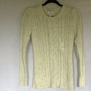 OLD NAVY NWT CREAM SWEATER SIZE SMALL
